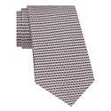 Geometric Print Silk Tie, ${color}