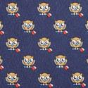 Owl Print Silk Tie, ${color}