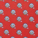 Owl Print Silk Tie, ${color}