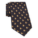 Tiger Print Silk Tie, ${color}