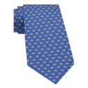 Frog Print Silk Tie, ${color}