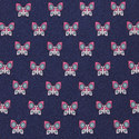Butterfly Print Silk Tie, ${color}