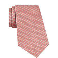 Turtle Print Silk Tie