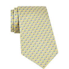 Dolphin Print Silk Tie