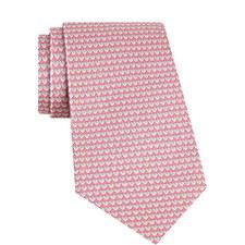 Heart Print Silk Tie