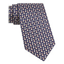 Dog Print Silk Tie, ${color}