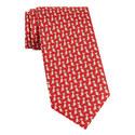 Dog Print Silk Tie, ${color}