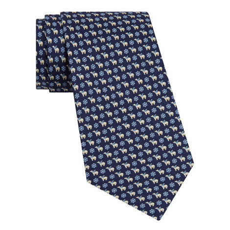 Polar Bear Print Tie, ${color}