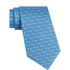 Hedgehog Daisy Print Tie