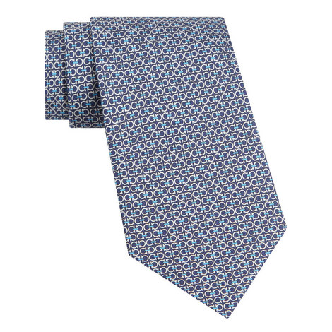 Double Gancio Silk Tie , ${color}