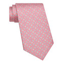 Floral Print Silk Tie, ${color}