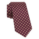Flower Print Silk Tie, ${color}