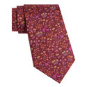Darly Floral Print Tie, ${color}