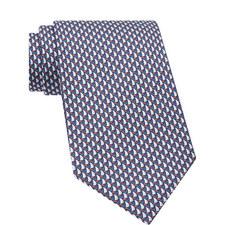 Sailboat Print Silk Tie