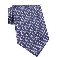 Anchor Print Silk Tie
