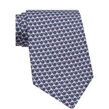 Swan Print Silk Tie