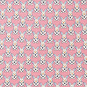 Bunny Print Silk Tie, ${color}