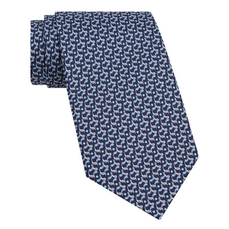 Golf Club Print Tie, ${color}