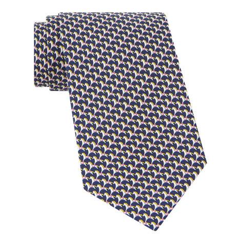Horse Print Silk Tie, ${color}