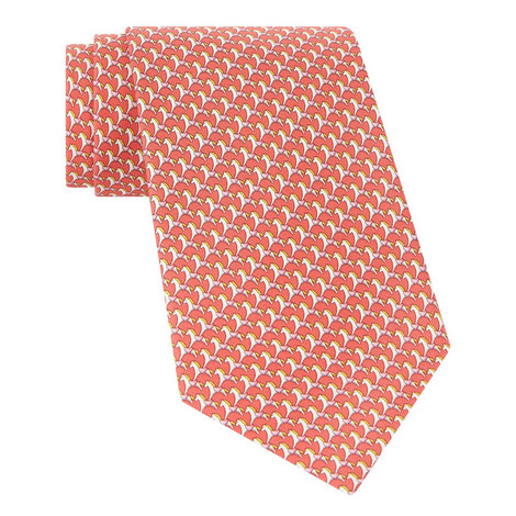 Horse Print Silk Tie, ${color}
