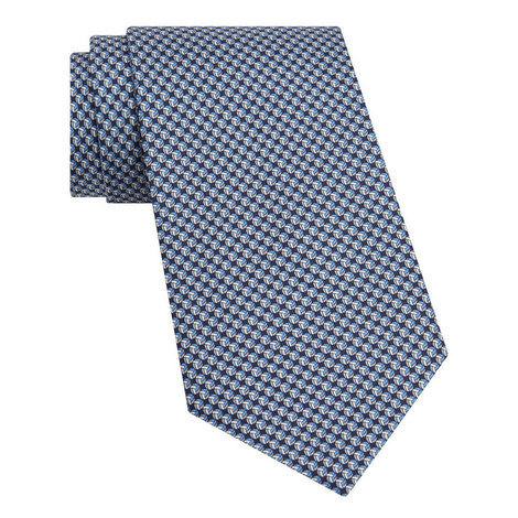 Ball Print Silk Tie, ${color}