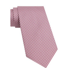 Ball Print Silk Tie