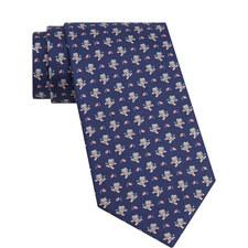 American Football Bear Print Tie