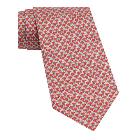 Jumping Rabbit Print Tie, ${color}