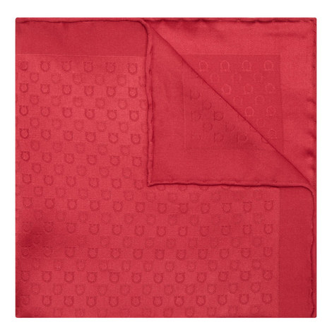 Gancio Pattern Pocket Square, ${color}