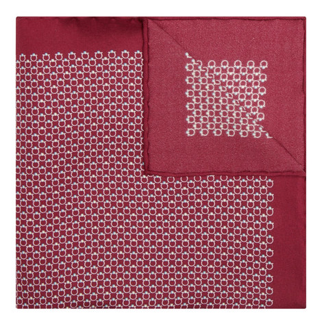 Geometric Silk Pocket Square, ${color}