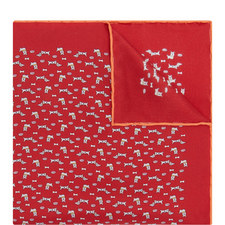 Dog Print Pocket Square