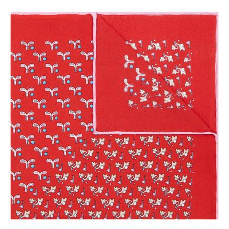 Elephant Print Pocket Square, ${color}