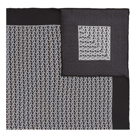 Printed Silk Pocket Square, ${color}