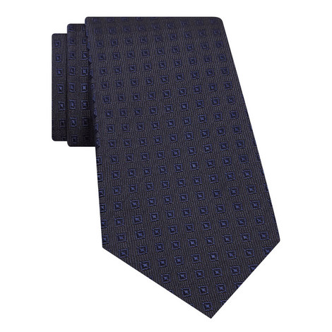 Square Pattern Silk Tie, ${color}