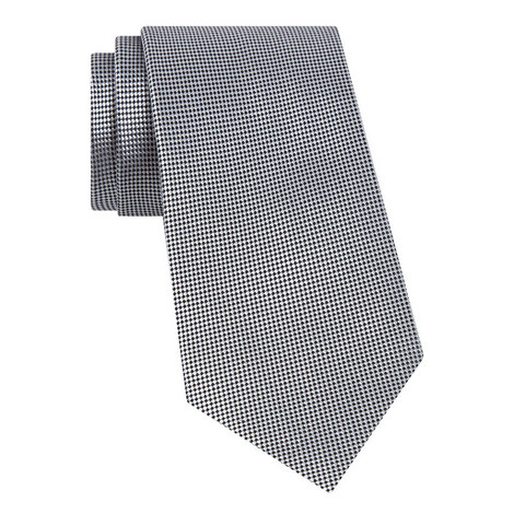 Micro Diamond Silk Tie, ${color}