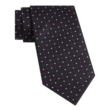 Polka Dot Embroidered Tie, ${color}
