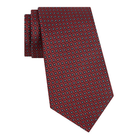 Tiled Dot Silk Tie, ${color}