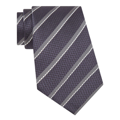 Twin Stripe Silk Tie, ${color}