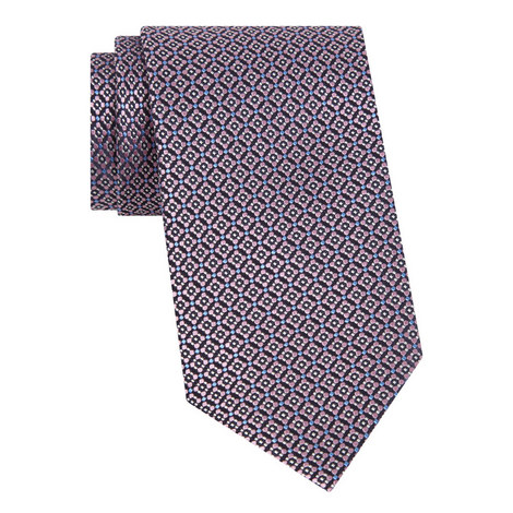 Floral Tile Silk Tie, ${color}