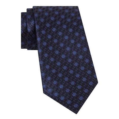 Circle Pattern Silk Tie, ${color}