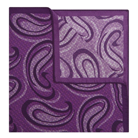 Paisley Print Pocket Square, ${color}