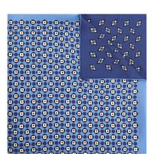 Geometric Print Reversible Pocket Square