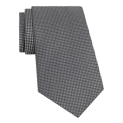 Micro-Patterned Silk Tie, ${color}