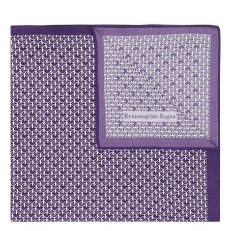 Patterned Silk Pocket Square, ${color}