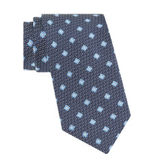 Embroidered Diamanté Silk Tie