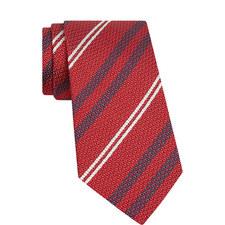 Diagonal Stripe Woven Tie