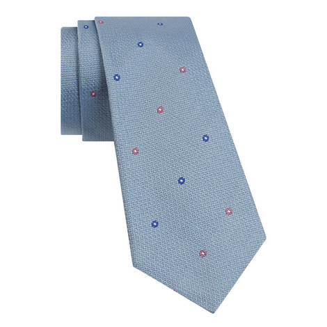 Micro Floral Pattern Tie , ${color}