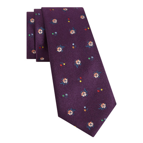 Floral Pattern Tie, ${color}