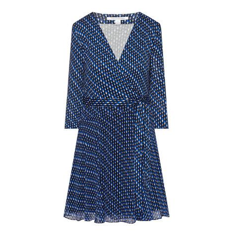 Irina Silk Print Wrap Dress, ${color}