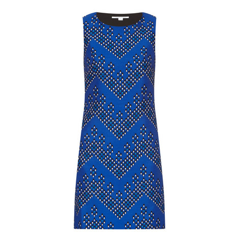 Sofia Silk Dot Print Dress, ${color}